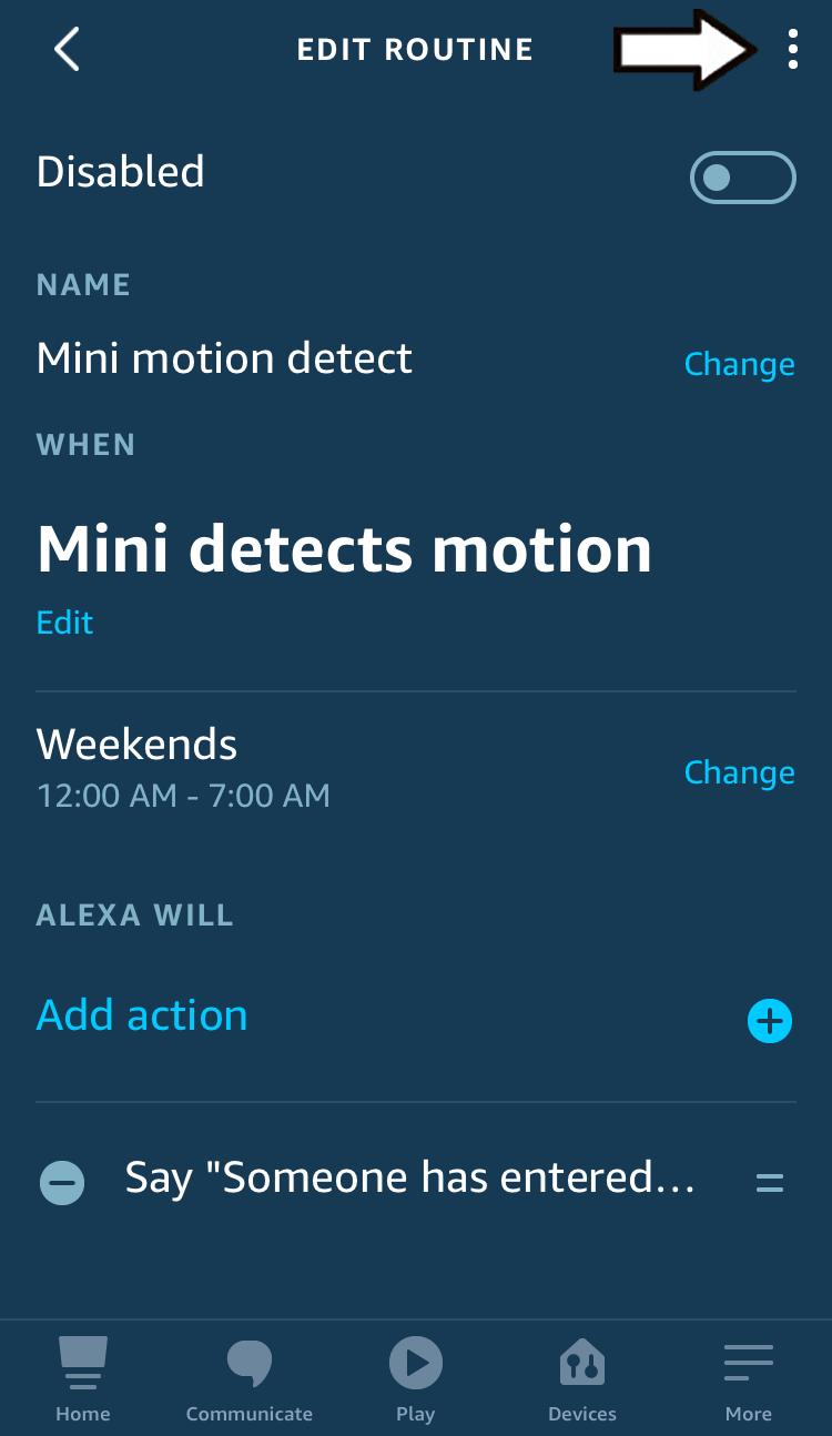 tap the three dot menu icon