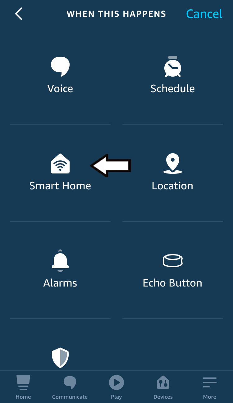 tap smart home