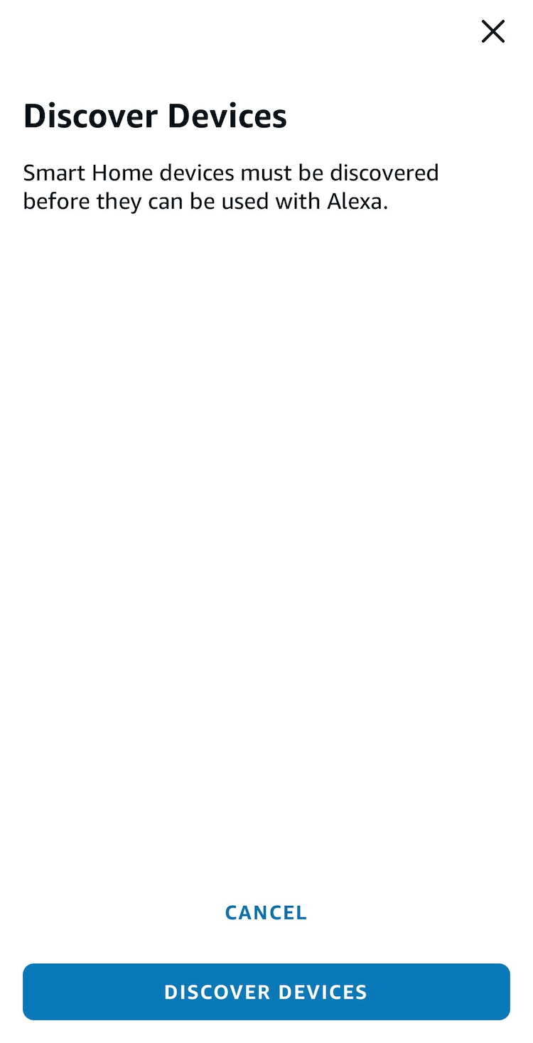 Smart Home devices must be discovered