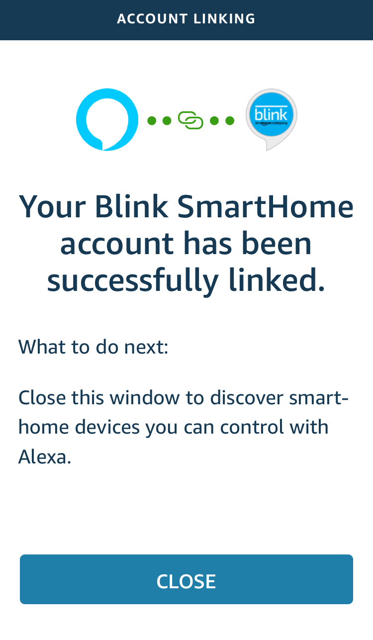 linked confirmation screen