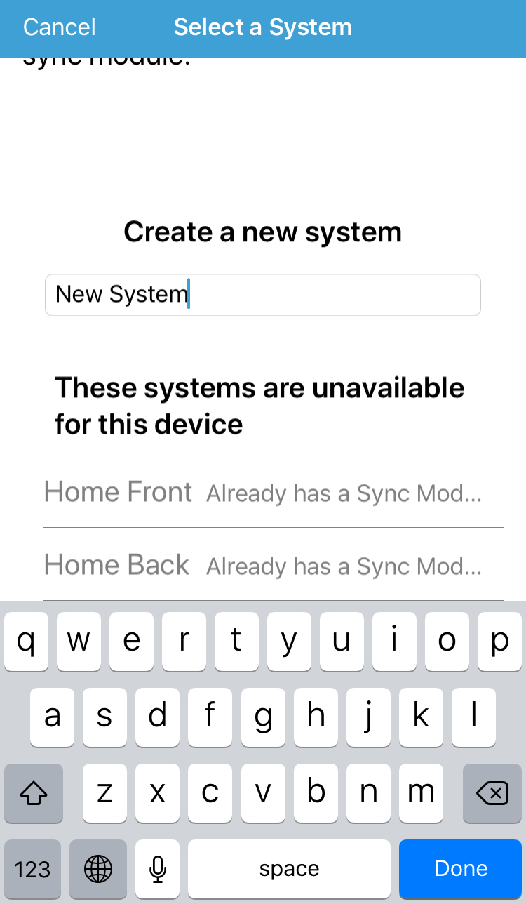Select or create a System