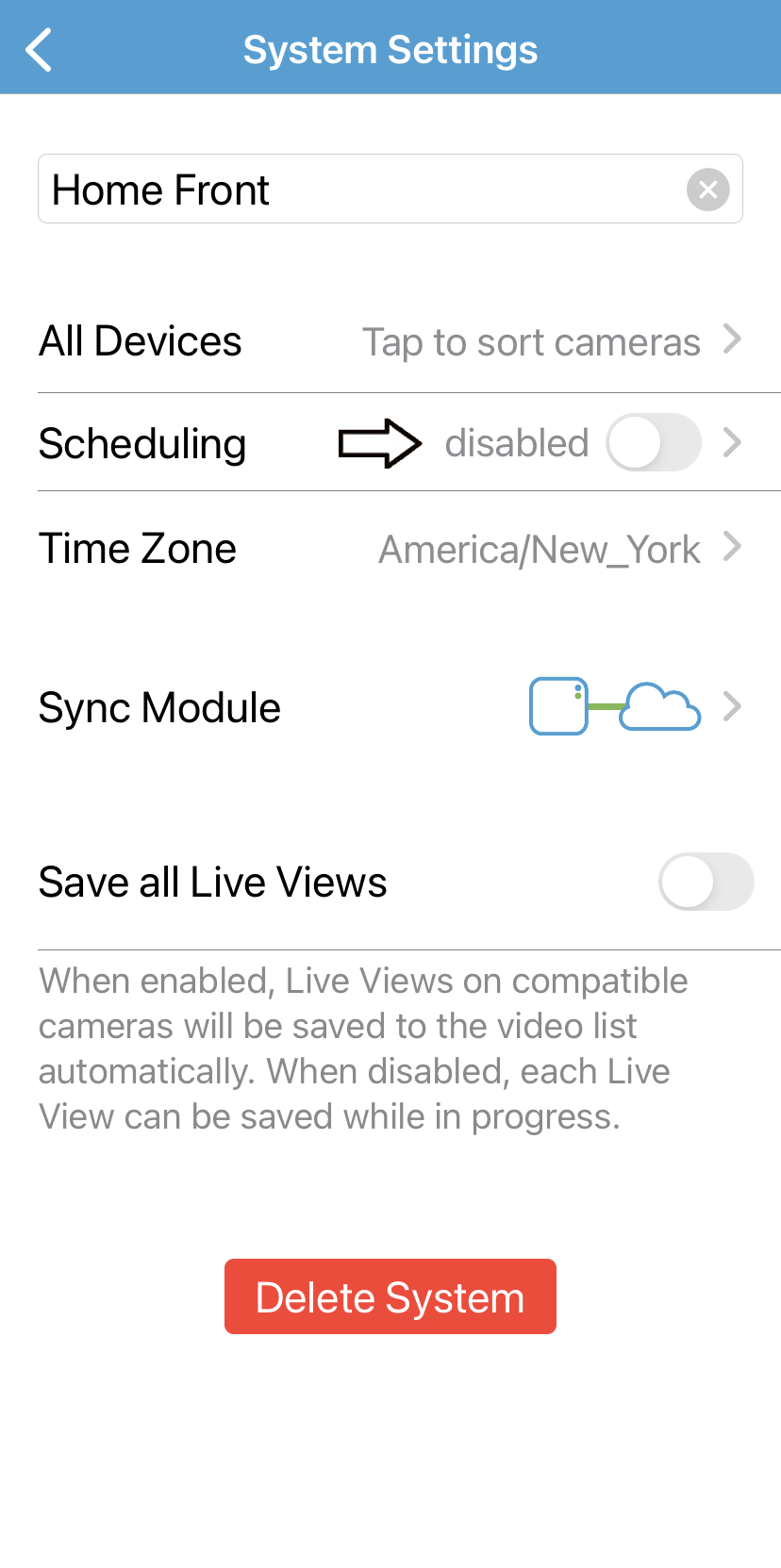 you can disable your schedule