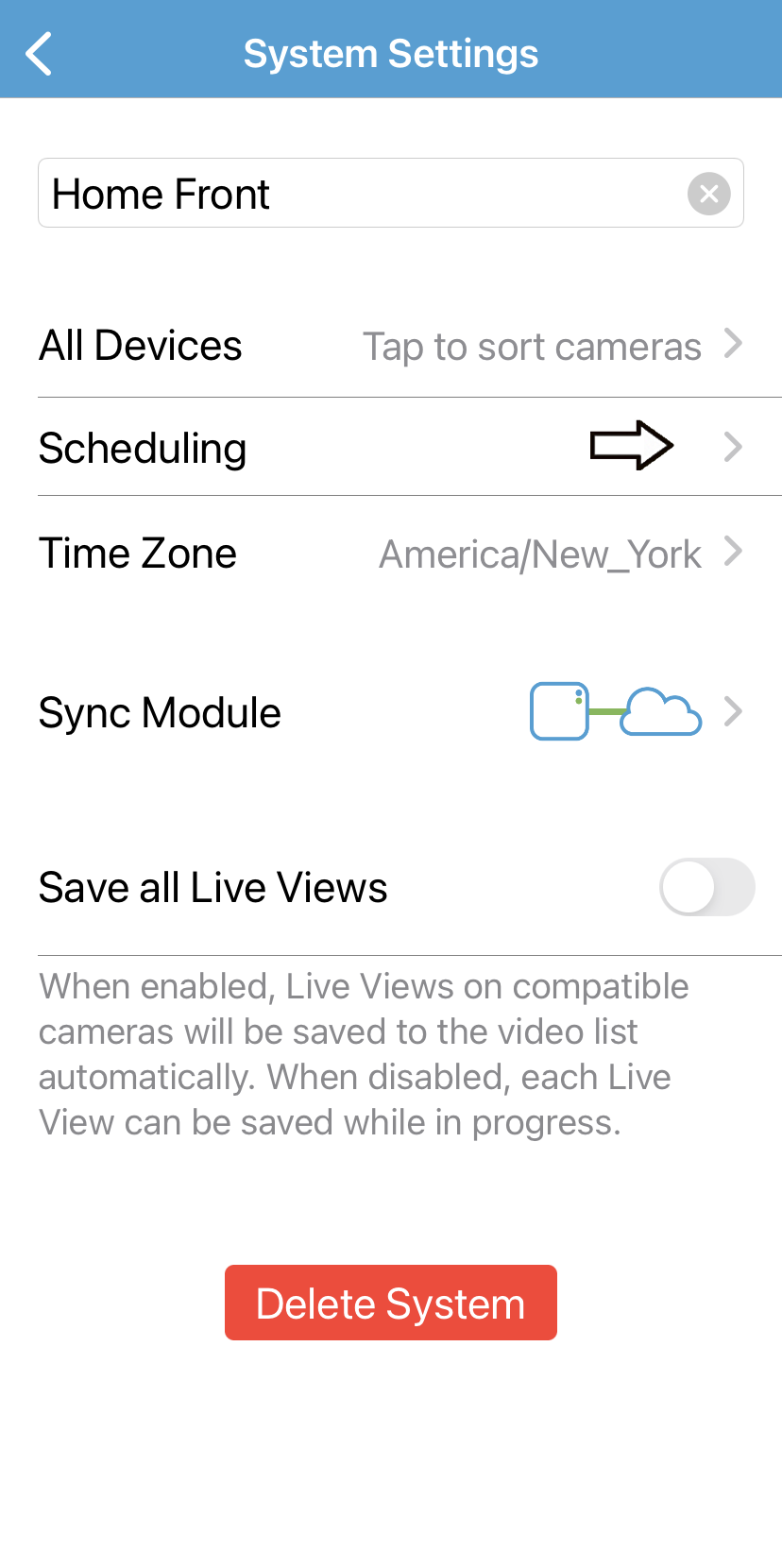 tap on Scheduling