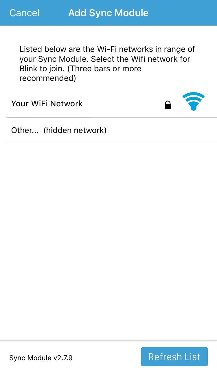 add sync module to Wi-Fi internet